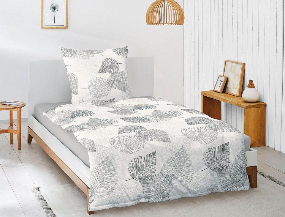 bettw sche davos 8003 irisette mit sch nen bl ttern. Black Bedroom Furniture Sets. Home Design Ideas