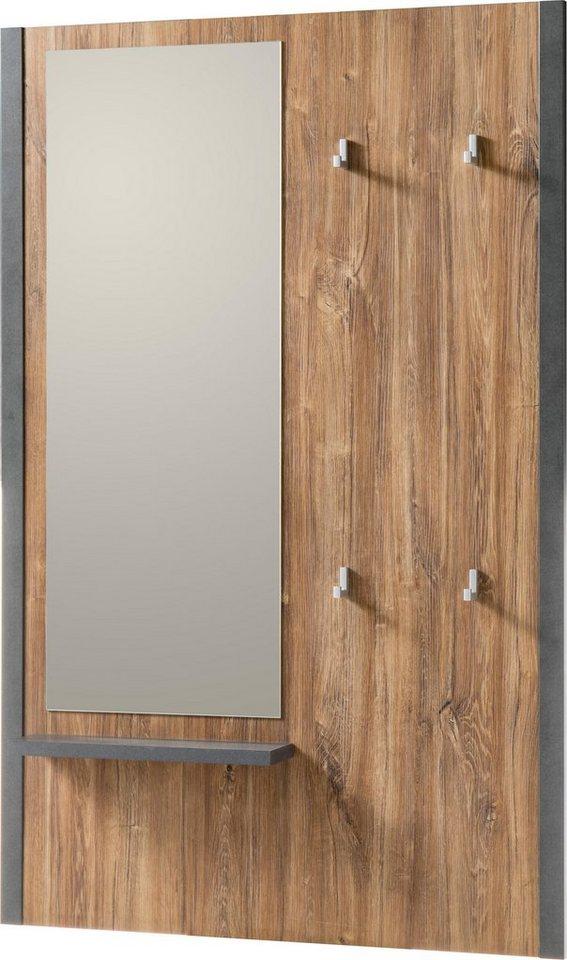 home affaire garderobenpaneel detroit mit 4 kleiderhaken. Black Bedroom Furniture Sets. Home Design Ideas