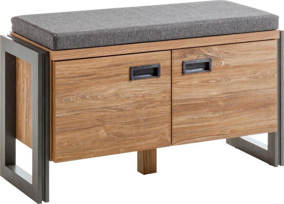 home affaire garderobenbank detroit im angesagten industrial look online kaufen otto. Black Bedroom Furniture Sets. Home Design Ideas