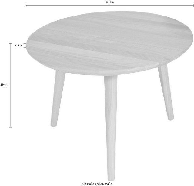 Wohnzimmertische - Beistelltisch, aus massiver Wildeiche, Ø 40 cm  - Onlineshop OTTO
