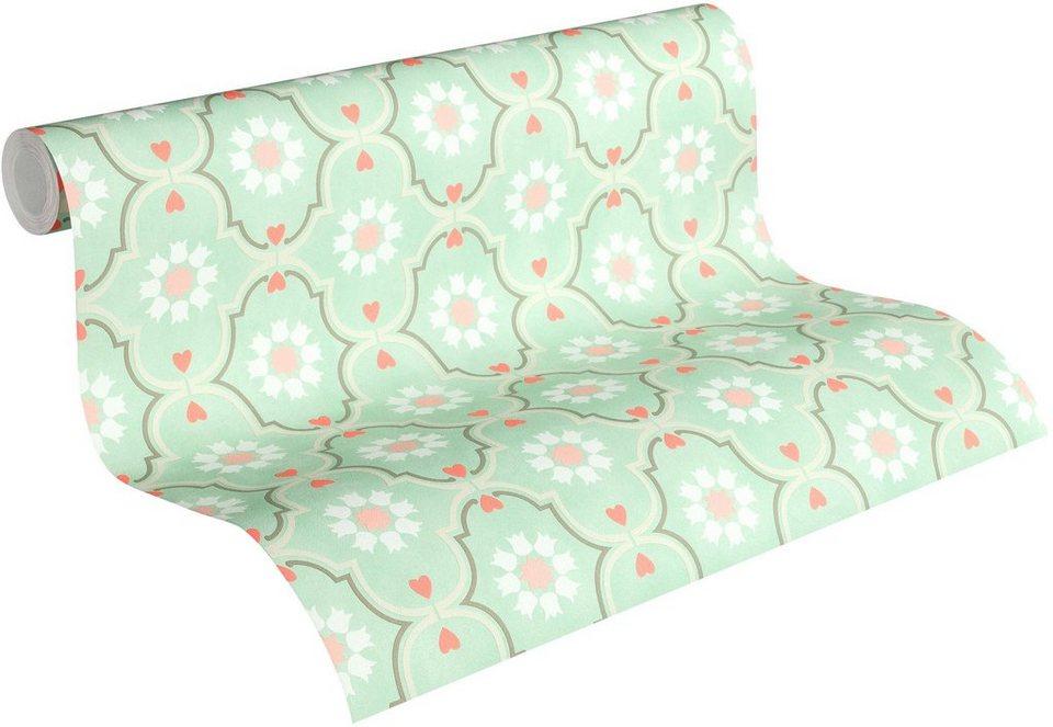 Feine tapeten finest lieferbar with feine tapeten for Ornament tapete rosa