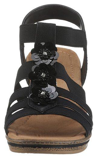 Blütenapplikationen Mit Supremo Schönen Sandalette Sandalette Supremo gHO7FPqOwx