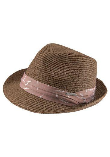 chillouts Strohhut (1-St) Derry Hat, Crushable, Trilby, Größenverstellbar, Sonnenhut