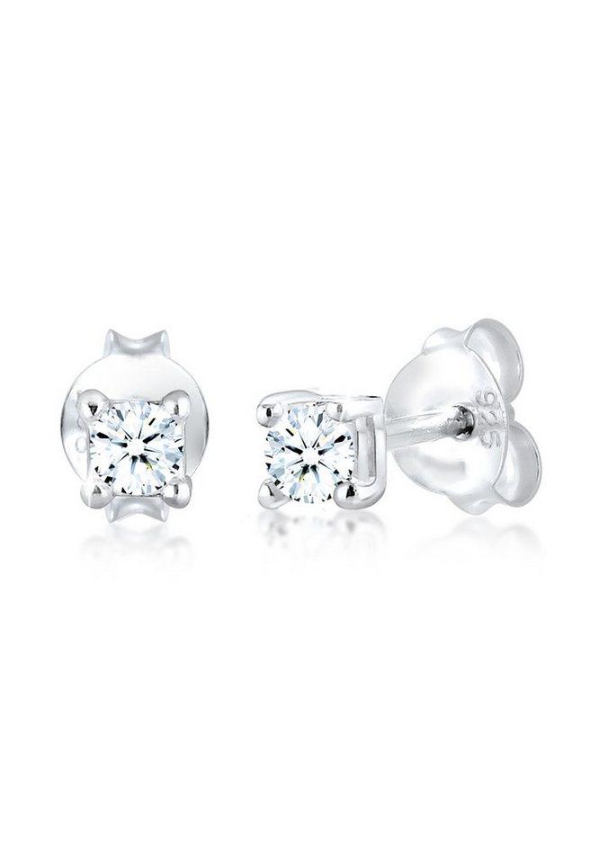 Diamore Paar Ohrstecker »Basic Ohrstecker Diamant (0.12 ct) 925er Silber« 127c60a6c3