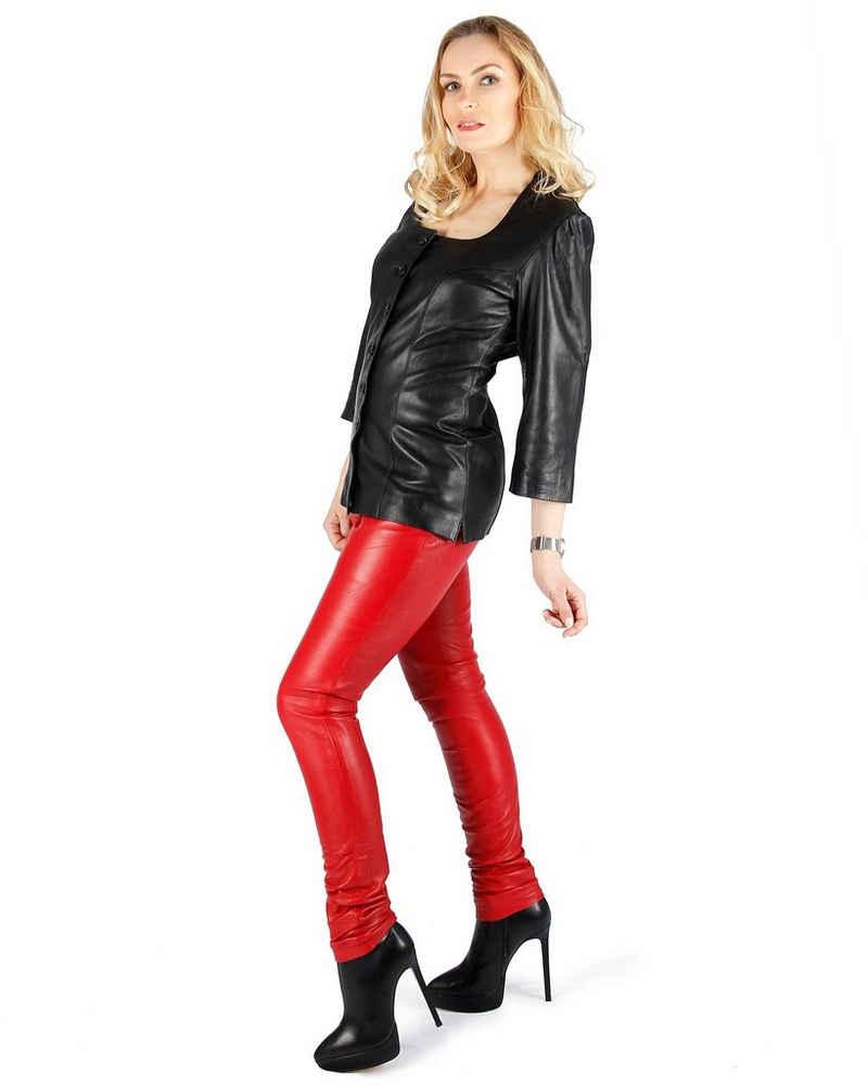 Fetish-Design Lederhose »Damen Lederhose Leggings aus Lamnappa Leder Rot«