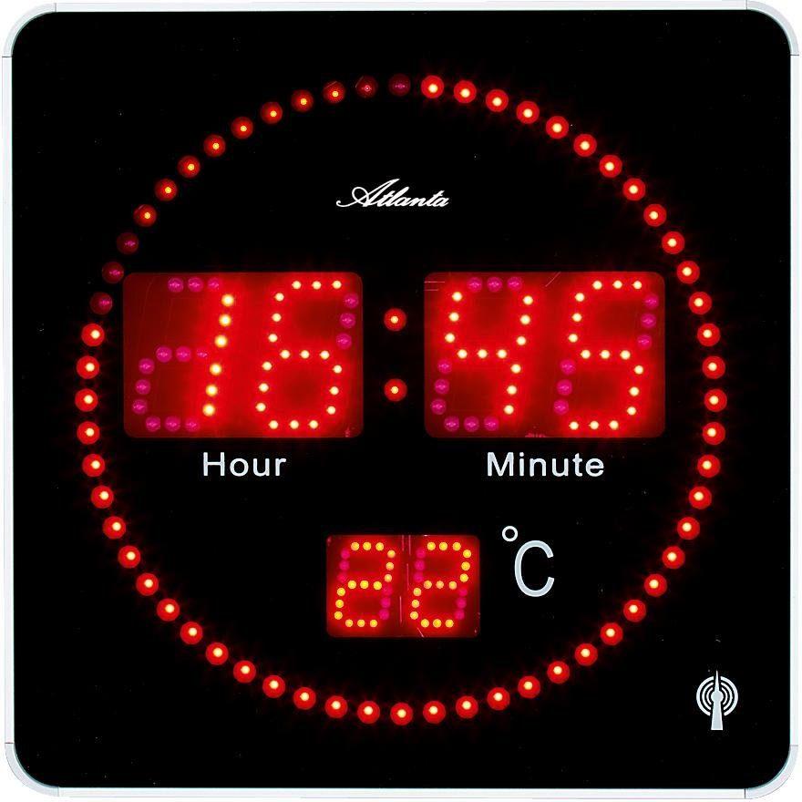 Atlanta Funkwanduhr »4462« (mit Temperaturanzeige)