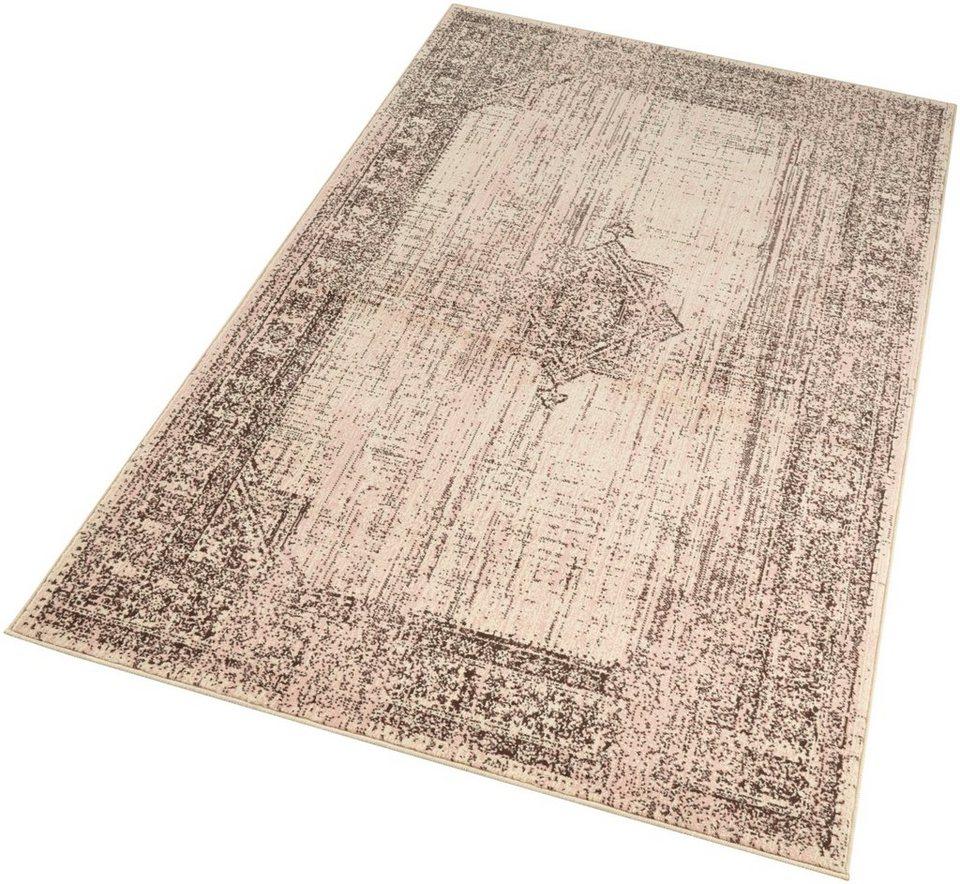 teppich elysium hanse home rechteckig h he 9 mm kurzflor gekettelt vintage optik online