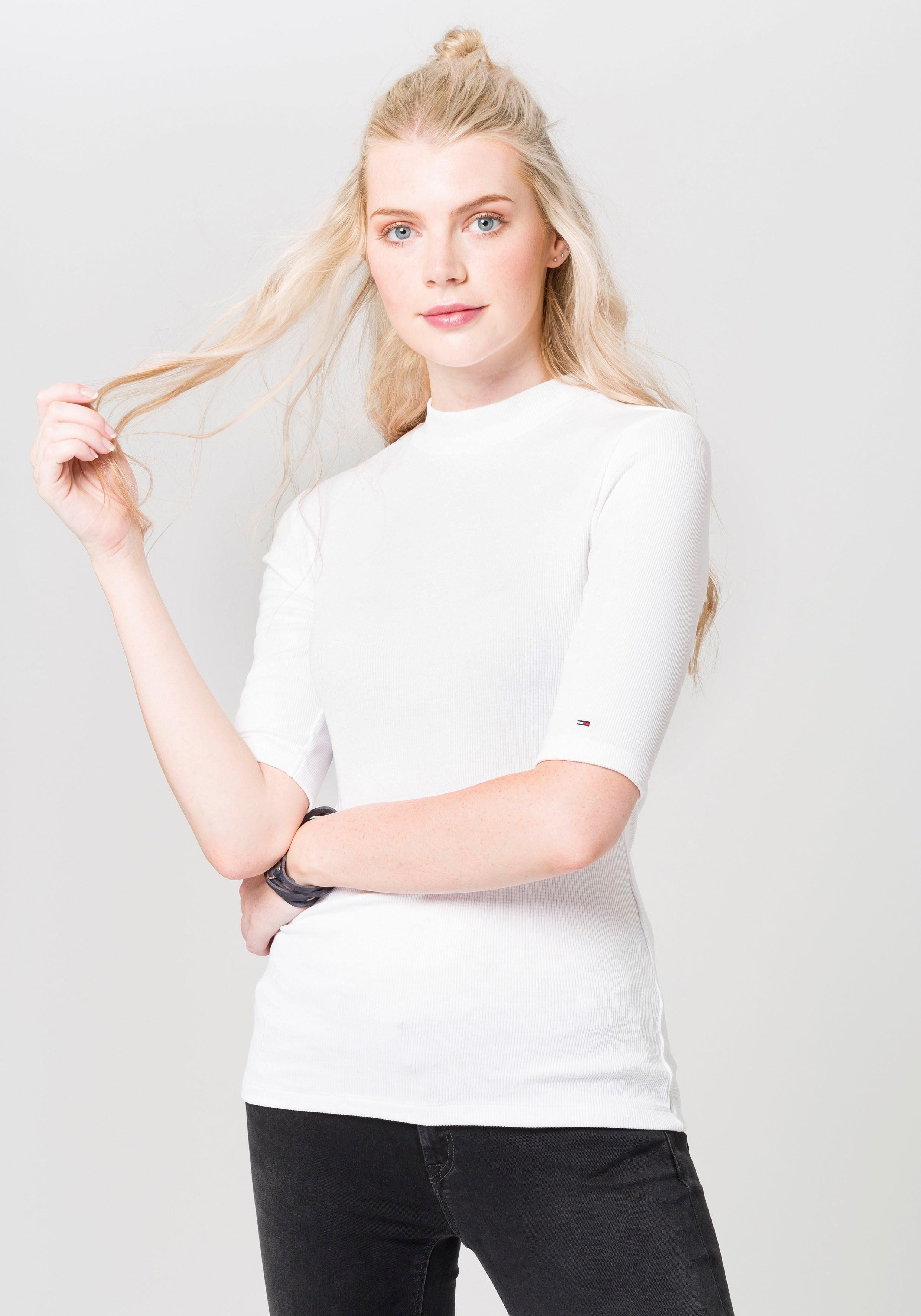 Tommy Jeans T-Shirts (mit Arm) »TJW MOCK NECK RIB TEE«