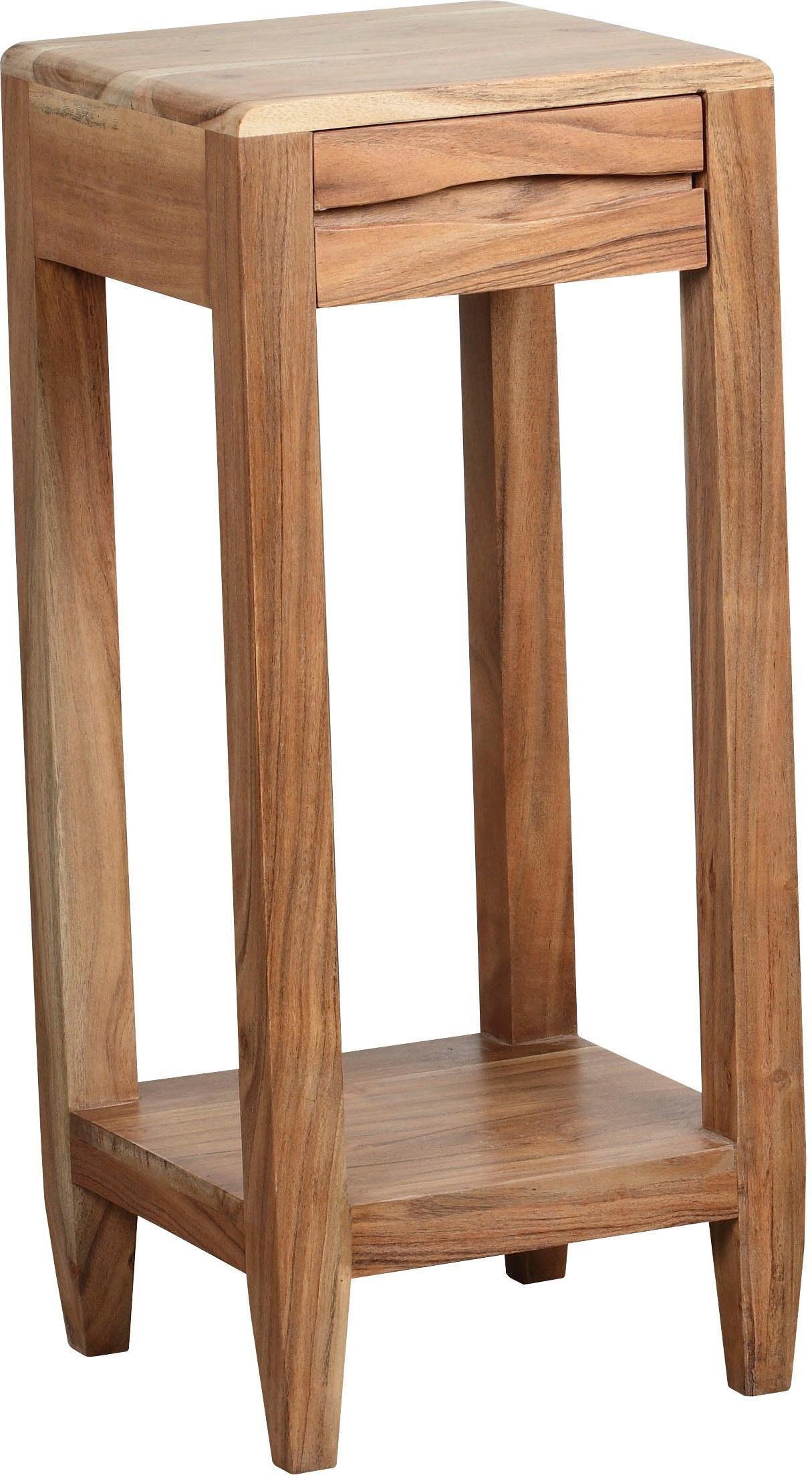 The Wood Times Beistelltisch »Venice« aus Massivholz Akazie