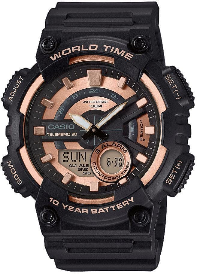 Casio Collection Chronograph »AEQ-110W-1A3VEF«
