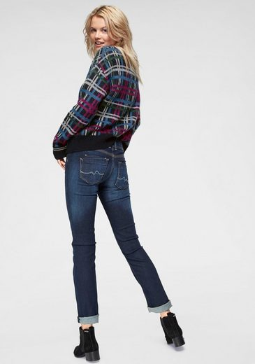 Pepe amp; Jeans Karo Mit »tinas« Strickpullover Wolle Fransendetail q8gqT