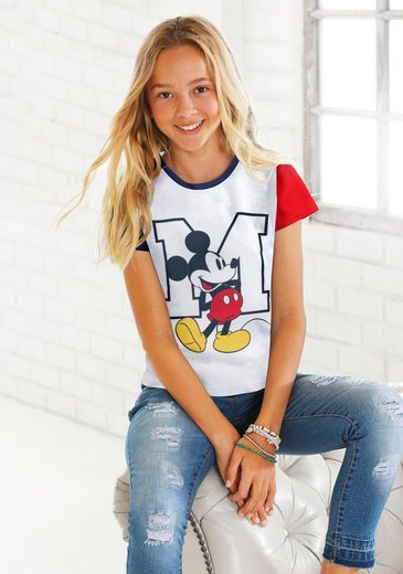 Disney T-Shirt »MICKEY MOUSE« mit Kontrast-Details