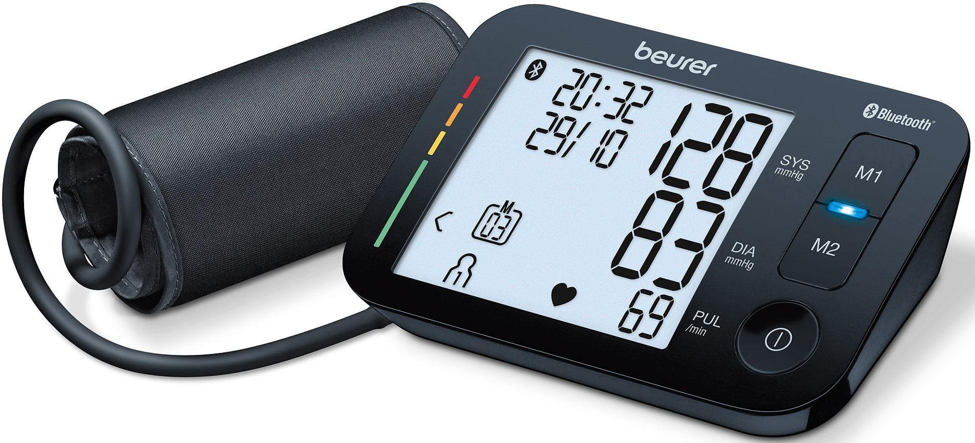 BEURER Oberarm-Blutdruckmessgerät BM 54, Mit Sprachfunktion in 4 Sprachen