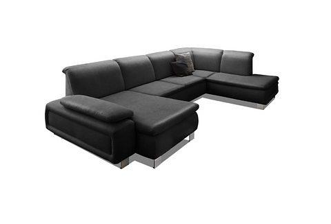 Sit&More Wohnlandschaft, wahlweise mit Bettfunktion in schwarz