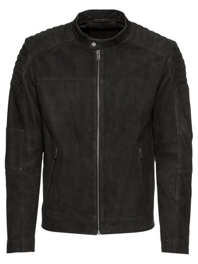 SELECTED HOMME Bikerjacke »SLHSUEDE QUILTED JKT W«