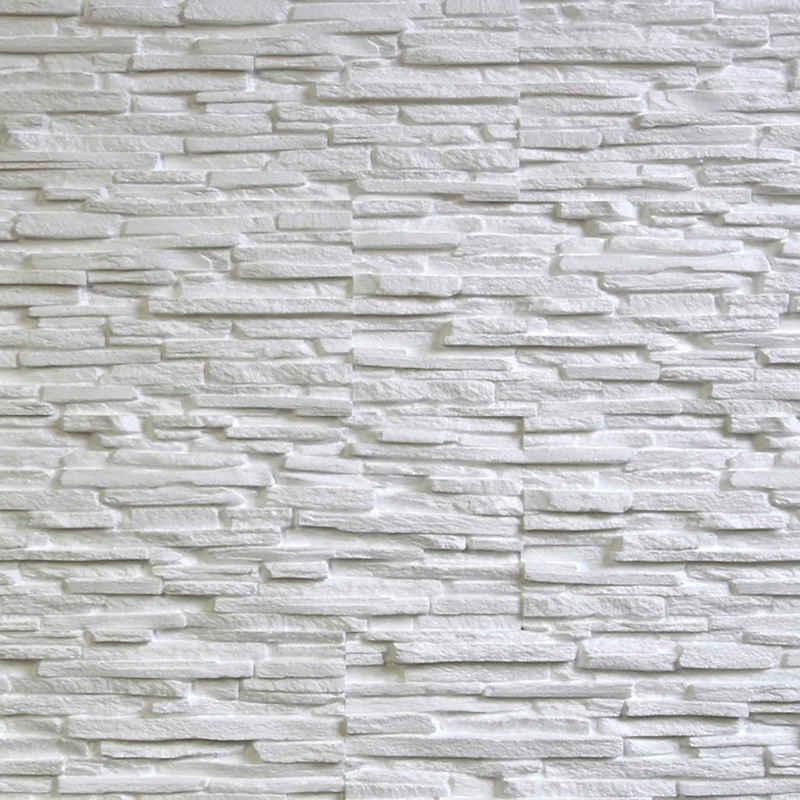 Rebel of Styles Verblender »UltraLight Tasso Weiß«, BxL: 18,7x57,5 cm, 0,11 qm, (Set, 6-tlg) in Steinoptik