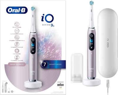 Oral B Elektrische Zahnbürste iO Series 9N, Aufsteckbürsten: 1 St., mit Magnet-Technologie, sanfte Mikrovibrationen, 7 Putzprogramme & Farbdisplay, Lade-Reise-Etui