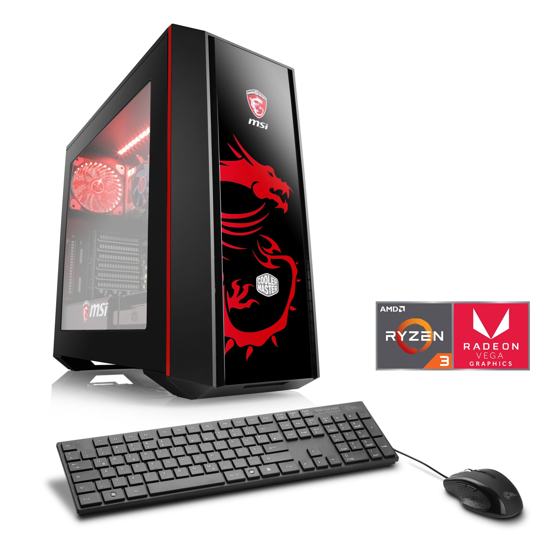 CSL Gaming PC   Ryzen 3 2200G   Radeon Vega 8   8 GB DDR4   SSD »Sprint T8376 Powered by MSI«