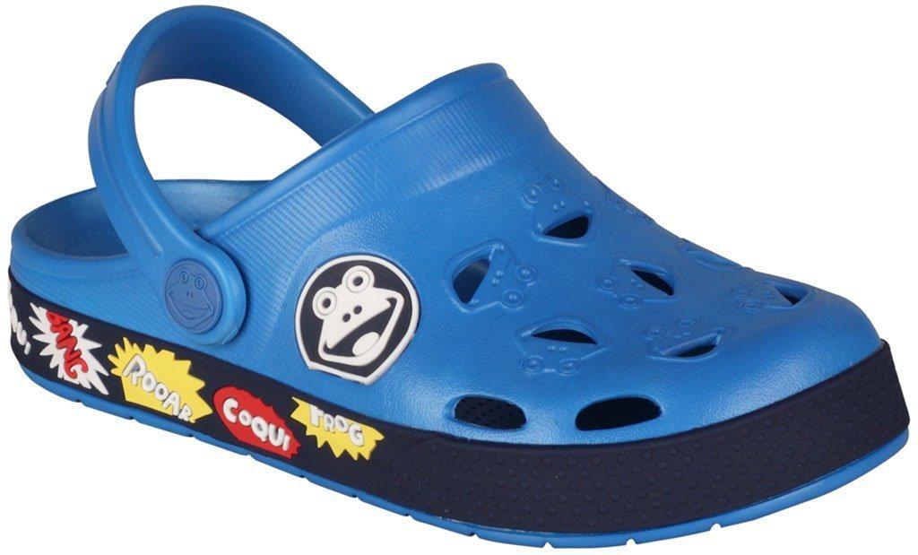 Damen Coqui Clogs im niedlichen Frosch-Design blau | 08595662616383