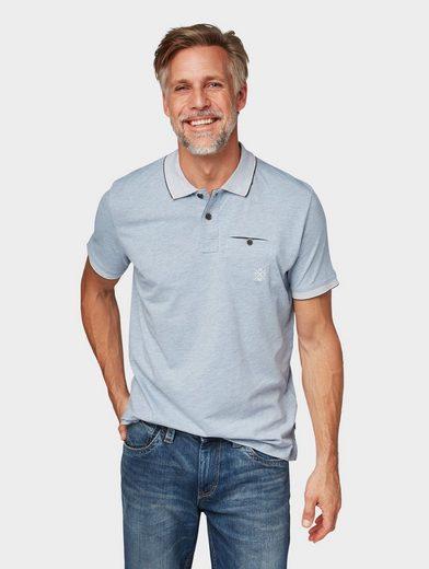 TOM TAILOR T-Shirt »Poloshirt in Melange-Optik«