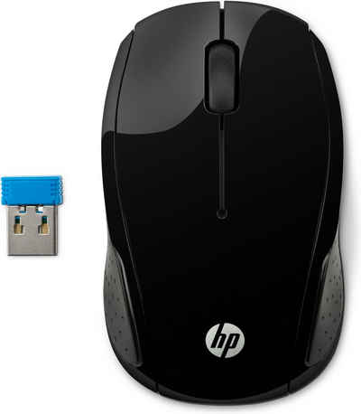HP »Kabelloser Komfort« Maus (kabellos, RF Wireless, Wireless Mouse 200)