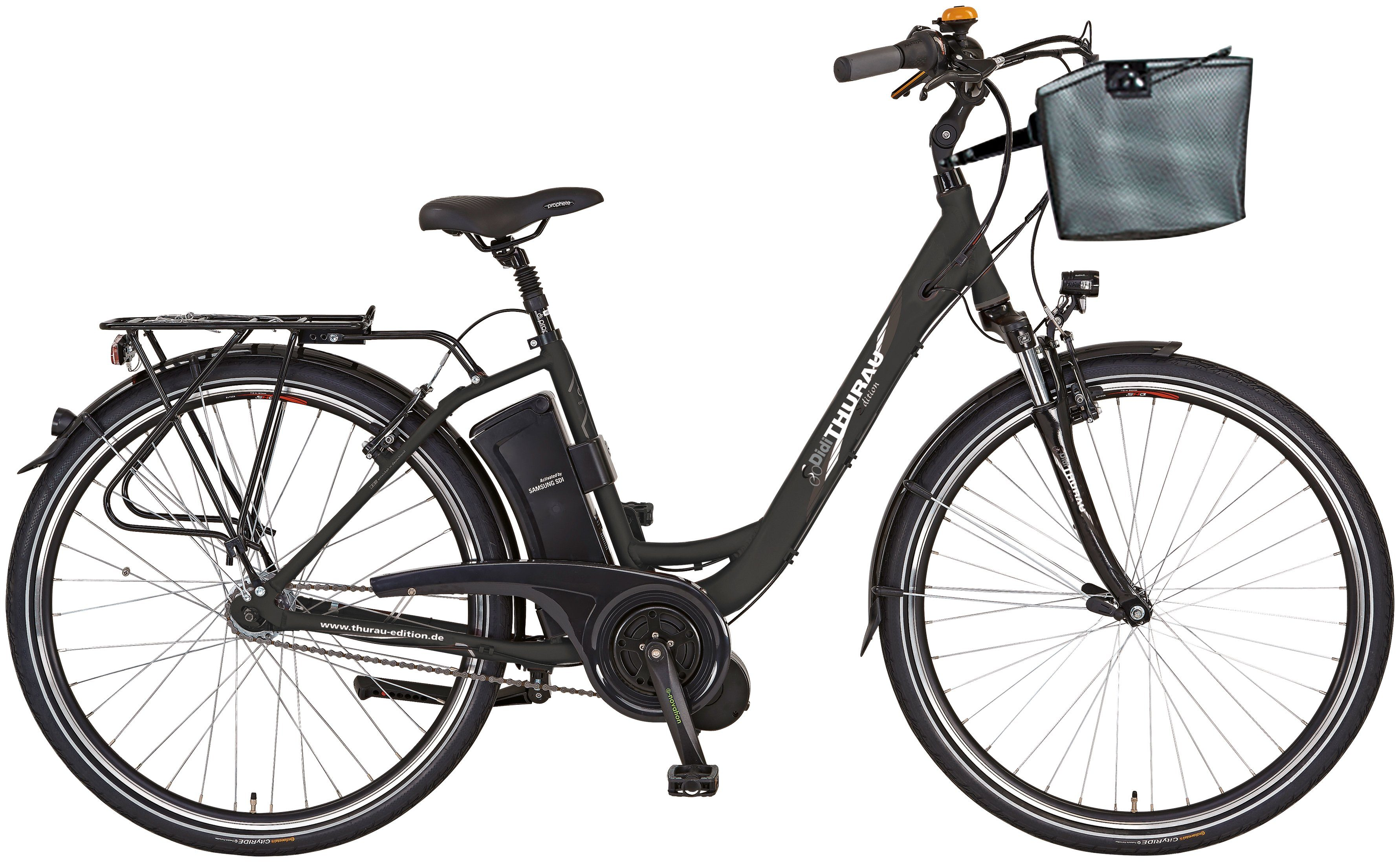 DIDI THURAU E-Bike City »Alu City Comfort 7 PLUS MM«, 28 Zoll, 7 Gang, Mittelmotor, 374 Wh