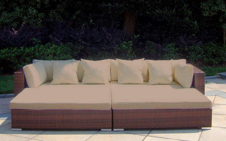 BAIDANI Loungeset »Paradise«, 2 Sofas, 2 Hocker mit Sitzauflagen und Kissen