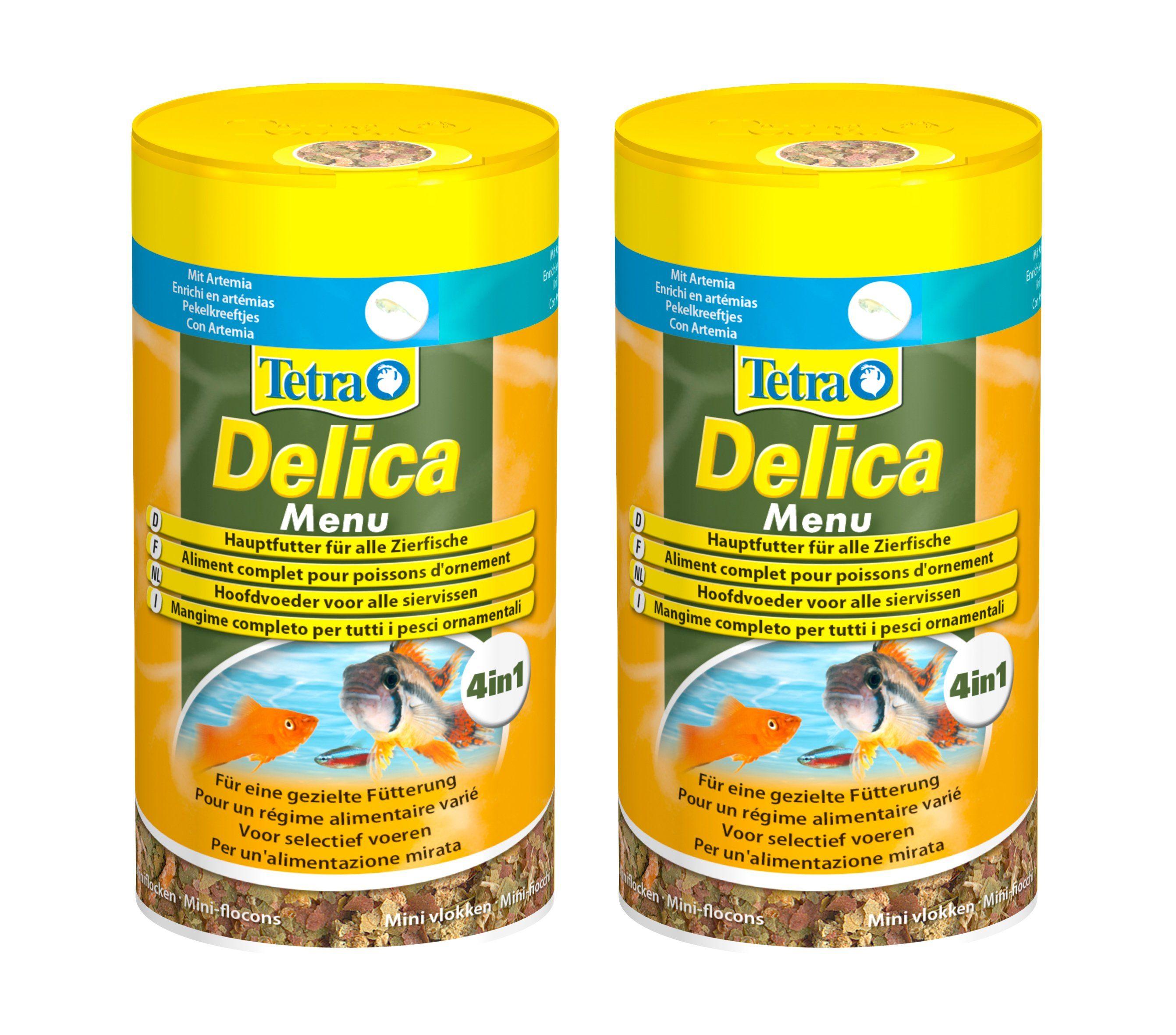 TETRA Fisch-Flockenfutter »Delica Menu«, 2x100 ml