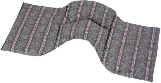 herbalind Wärmekissen »4-Kammer Schulterkissen, 50x25 cm, Karo Beige-Grau«, (1-tlg), Füllung 100% Dinkelkörner