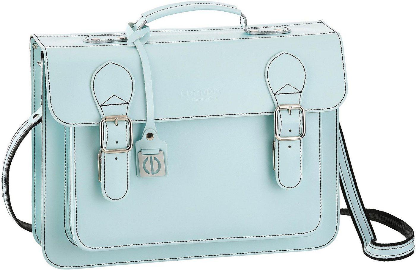 ceevee® Businesstasche mit Tabletfach, »Catchall Business, Azure«   Taschen > Businesstaschen > Aktentaschen   Blau   Leder   Ceevee