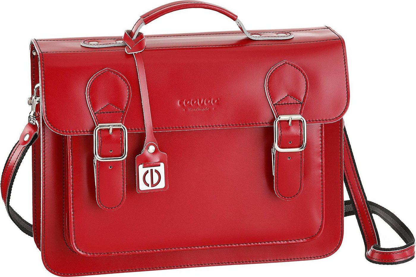 ceevee® Businesstasche mit Tabletfach, »Catchall Business, Red«   Taschen > Businesstaschen   Rot   Leder   Ceevee