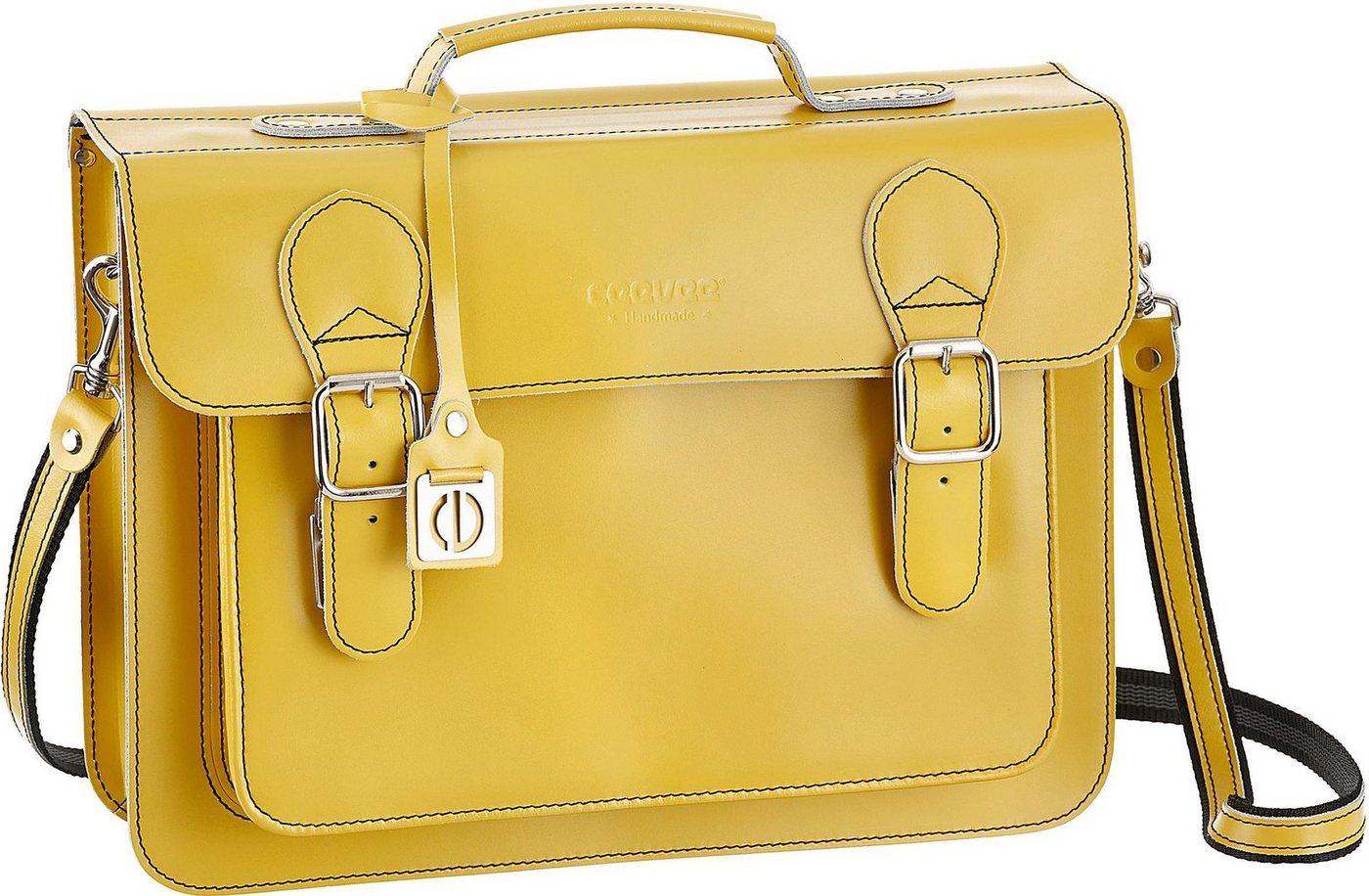 Ceevee Businesstasche »Catchall Business, Lemon«, mit Tabletfach | Taschen > Business Taschen | Gelb | Leder | Ceevee