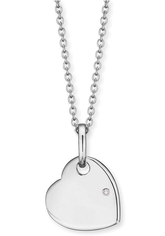 Engelsrufer Herzkette »Kette mit Herz, HEN-ID-HEART-ZI« mit Zirkonia | Schmuck > Halsketten > Herzketten | Engelsrufer