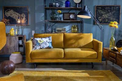 TOM TAILOR 2 Sitzer Sofa »CLUB STYLE« Mit Schwarzen Metallfüßen, Breite 187