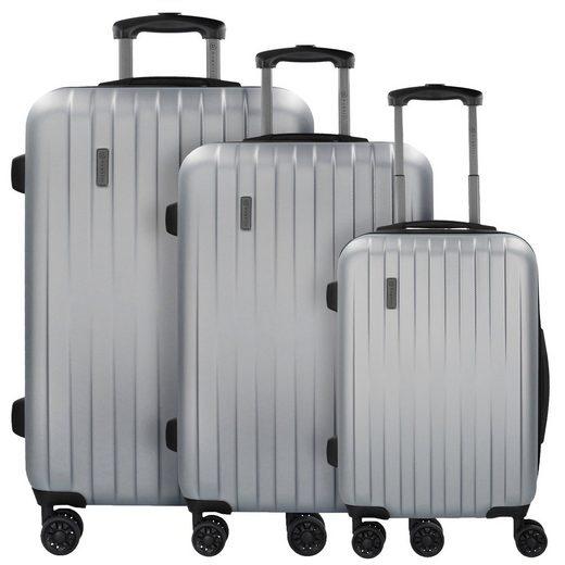 bugatti Lima 2.0 FL 4-Rollen Kofferset 3tlg mit Doppelrollen
