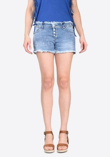 Kaporal Jeans-Shorts im Used-Look