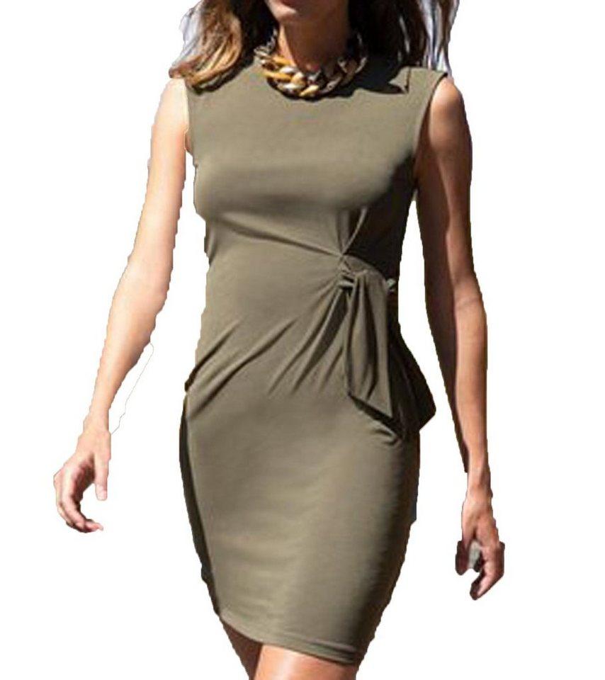 Laura Scott Minikleid Laura Scott Mini Kleid Weich Fliessendes Damen Jersey Kleid Cocktail Kleid Khaki Grun Online Kaufen Otto