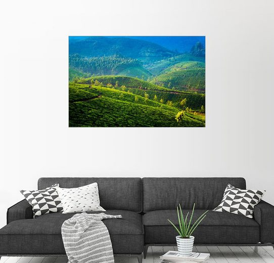 Posterlounge Wandbild »Tee-Plantagen im Hochland Indiens«