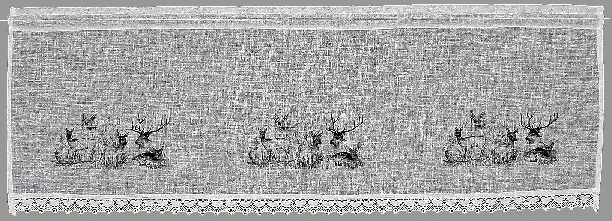Querbehang »Bambi«, Hossner, Stangendurchzug (1 Stück), Landhaus-Look