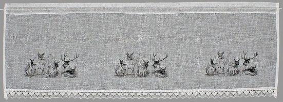 Querbehang »Bambi«, HOSSNER - ART OF HOME DECO, Stangendurchzug (1 Stück), Landhaus-Look