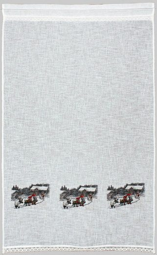 Gardine »Wintermärchen«, HOSSNER - ART OF HOME DECO, Stangendurchzug (1 Stück), Landhaus-Look
