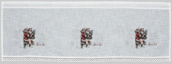 Querbehang »Santa«, HOSSNER - ART OF HOME DECO, Stangendurchzug (1 Stück), Landhaus-Look