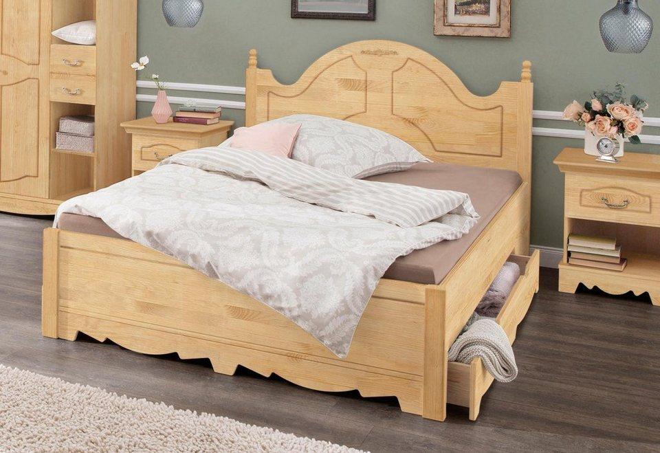 Home Affaire Bett Romantika Aus Massiver Kiefer Inklusive 2 Bettschubladen Online Kaufen Otto