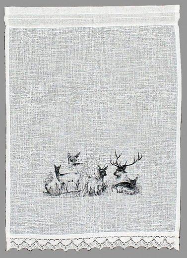 Scheibengardine »Bambi«, HOSSNER - ART OF HOME DECO, Stangendurchzug (1 Stück), Landhaus-Look