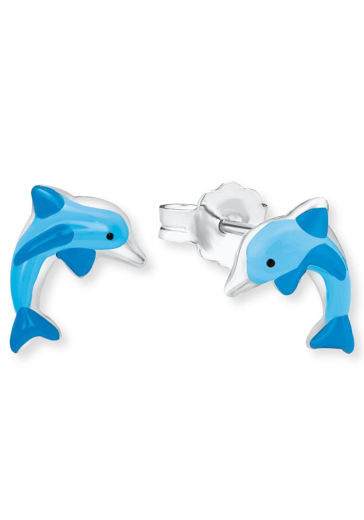 Amor Paar Ohrstecker »Delfin, 9211296« mit Emaille