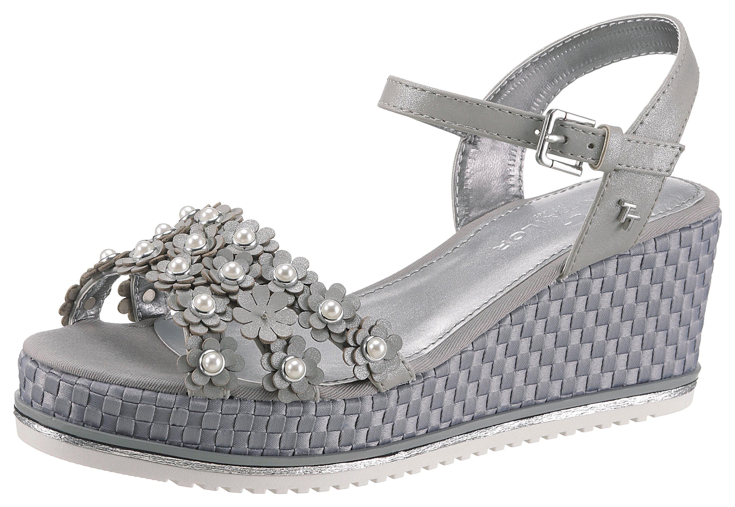 TOM TAILOR Sandalette mit Zierperlen geschmückt