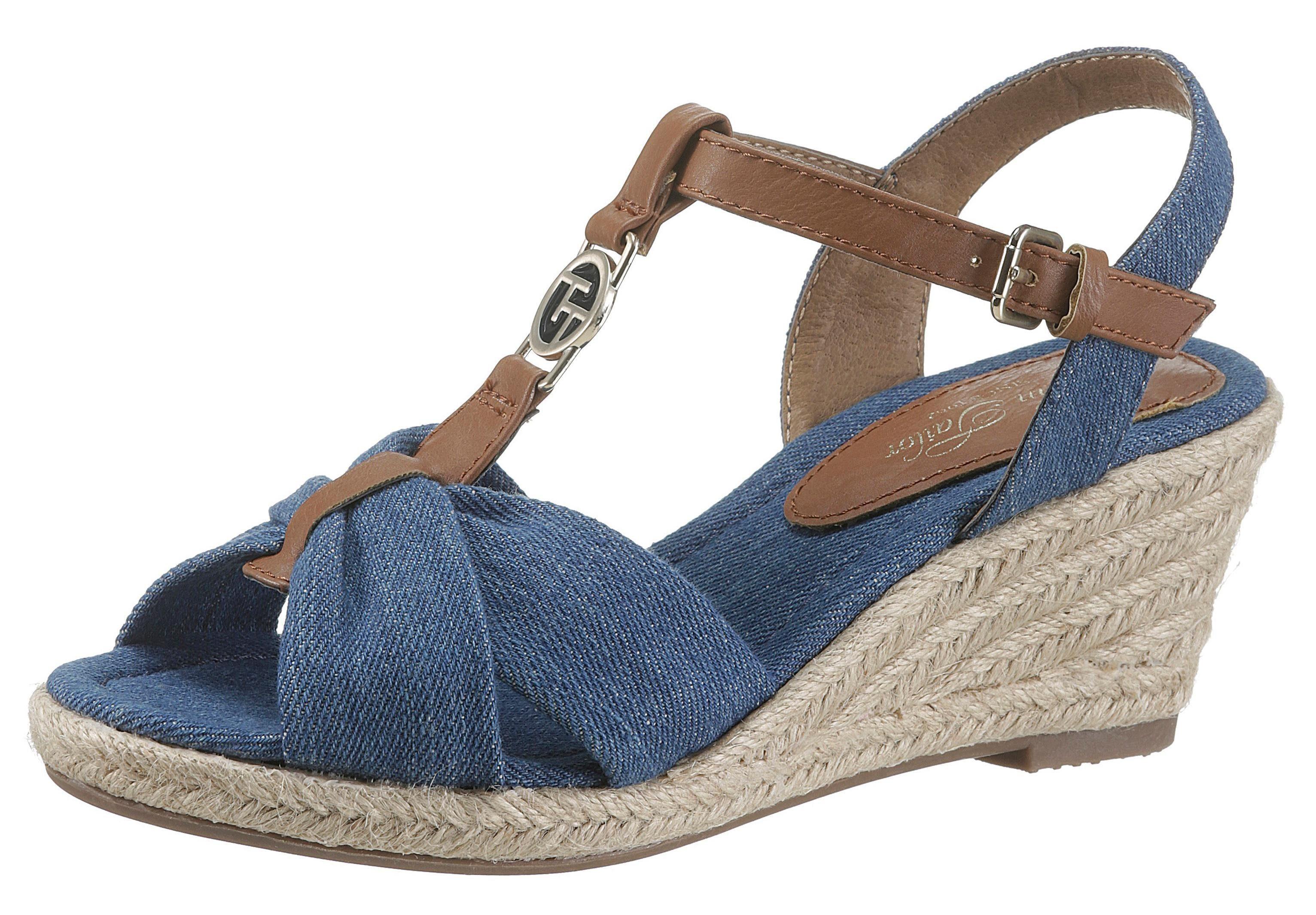 TOM TAILOR Sandalette in Jeans-Optik