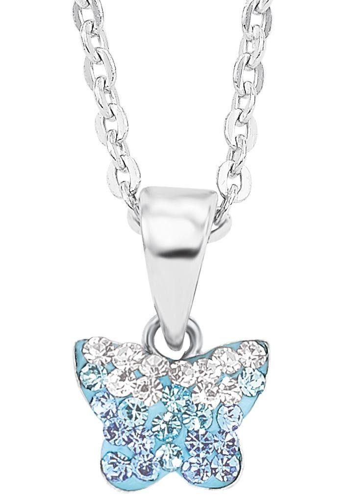 Amor Kette mit Anhänger »Schmetterling, 9540808« mit Preciosa Crystal
