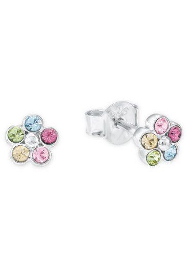 Amor Paar Ohrstecker »Blüten, 2021266«, mit Kristallen