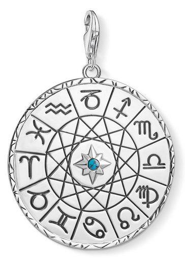 THOMAS SABO Charm Sternzeichen »Sternzeichen Coin silber, Y0037-878-21«, mit imit. Türkis